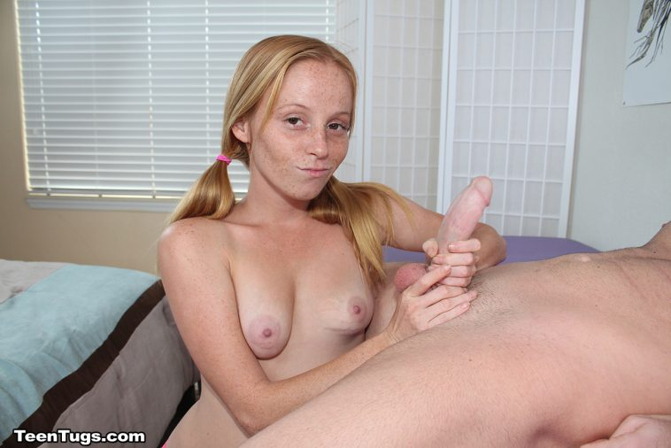 Teen Tugs Alyssa Hart In Tiny Hands Grip A Big Cock -7323